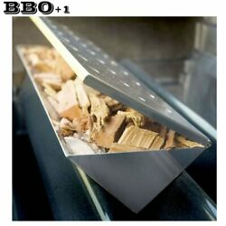 13.75'' Large V-shape Grill Smoker Box Wood Chips Smoke Flavor Bbq Accessories