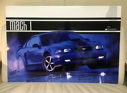 2003 Ford Mustang Mach 1 Signed by Chief Program Engineer Design Manager+2 more
