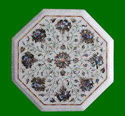 12 White Marble Rolling Board Sea Shell Floral Inlay Kitchen Hallway Decor