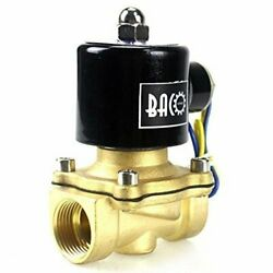 Brass Electric Solenoid Valve W/ 1/2 Female Npt Threads For Water Air And Oil
