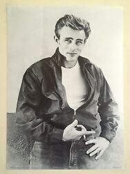 James Dean Foundation Rare Vtg Litho Print Rebel With A Cause 1955 Photo Poster