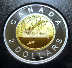 2017 Canada 150 Our Home And Native Land Silver Gold Plated Proof 2 Dollar Coin