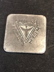 Rare Frb-gl Junkers Heim Aircraft Canteen Trade Token Military Ww2 Germany
