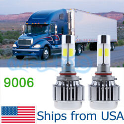 LED Headlight Bulbs Conversion Kit For Freightliner Columbia 1996-2013 LOW BEAM