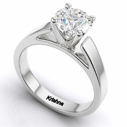 2 Carat White Round Cut Solitaire Engagement Gifts Ring In Solid 925 Silver Cz