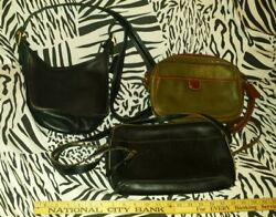 Lot of 3 Vintage COACH Leather Bags Made in USA Free Shipping $49.99