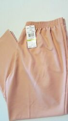 Nwt Womenand039s Size 14 Peach Proportional Stretch Waist Pants Alfred Dunner