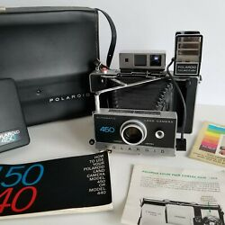 Vintage Polaroid 450 Instant Film Automatic Land Camera with Case