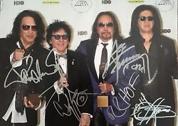 Kiss Signed Photo Gene Simmons Paul Stanley Autographed Ace Frehley Criss Proof