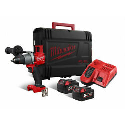 Milwaukee M18 Fpd2 502x Drill Percussion Screwdriver 18v +2 Battery 5.0ah