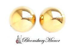 Vintage 1940s Vca And Dome 18k Yellow Gold Clip Earrings