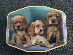Vintage Horner Cocker Spaniel Puppies Toffee Tin England