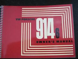 New Nos 1971 Porsche 914-6 Euro Owners Manual Book Drivers Handbook Germany