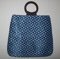 Echo Design woven Geometric print tote Carry-All Bag  new $34.50