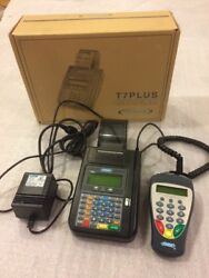 Hypercom T7plus Credit Card Terminal With S9 Pin Pad And Power Supply