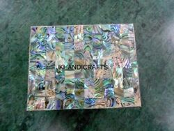 4 X 3 White Marble Trinket Cum Jewelry Box Abalone Shell Marquetry Art Gifts