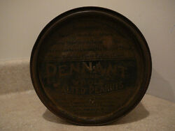 S25 Antique Planters Peanuts Advertising Tin Container Can Pennant Brand