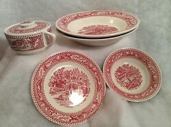 Royal Ironstone Memory Lane, 1 Soup Bowl 8.5,1 Sugar And Cover,1butter,1 Sauce