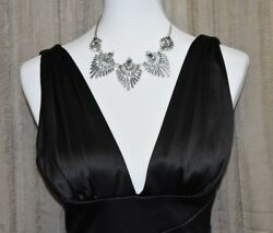 NW COLLECTIONS WOMEN#x27;S BLACK EVENING DRESS sz SMALL $32.99
