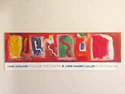 Hans Hofmann Rare 1974 Abstract Expressionist Lithograph Print Exhibition Poster