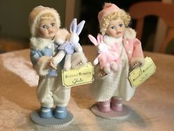 Florina Collection Musical Porcelain Dolls Nina And Paco In Box Vintage Set