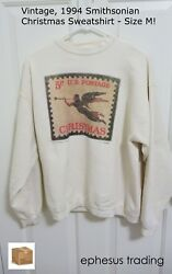 1994 MAZE Smithsonian Sweatshirt Sweat Shirt Christmas US Stamp Angel 5 c Size M