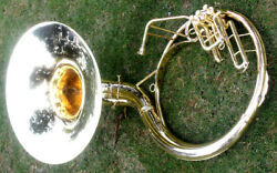 INDAN HANDMADE BRASS FINISH 22quot;SOUSAPHONE BRASS MADE TUBA MOUTH PIECE WITH BAG $389.00