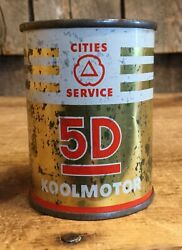 """Vintage Cities Service Oil 5d Koolmotor Promotional Coin Piggy Bank Tin Can 3"""""""