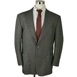 Saks Fifth Ave Mondo Di Marco Mens Sportcoat Xl Gray Black Cashmere Blend Italy