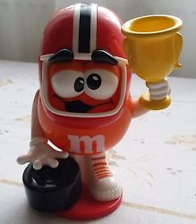 Mandms Orange Champion Cup Tire Race Driver Candy Dispenser Made In Filippines.