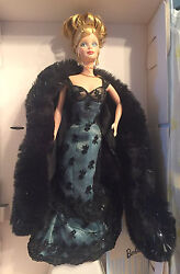 Nolan Miller Evening Illusion Barbie Doll And Gorgeous Lace Gown And Designer Sketch