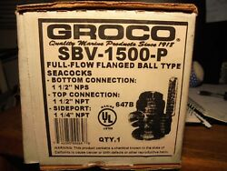 Groco Seacock Sbv-1500-p Full Flow Flanged 3 Way Valve 1-1/2x1-1/2 X 1-1/4
