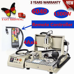 4Axis CNC 6040 Router Engraver 1500W Milling Drilling Machine+Remote Controller