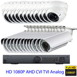24channel 1080p Tvi Dvr 16 2.8-12mm Lens 2.6mp Security Camera System 3tb Andand5