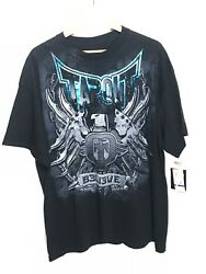 Tapout Black Graphic Short Sleeve T Shirt, Mma, New With Tag, Men's Xxl A31