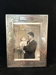 Vintage Lebkuecher And Company Sterling Silver Baby Picture Frame - Hugh Downs