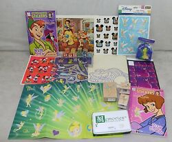 Disney Tinkerbell Tinker Stickers Ink Stamps Pad Misc
