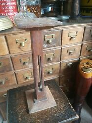 Antique Vintage Wood Hat Wig Collectibles Shop Display Stand Plinth Wooden