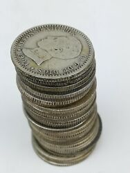 28 Coins Of 50 Cents Of Silver. Alfonso Xiii King Of Spain 1904