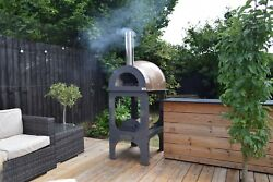 Wood Fired Pizza Oven-pre-built With Stand-fibreglass Shell