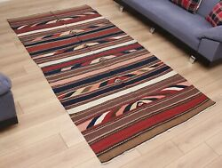 4.95and039 X 9.65and039 Kilim Rug Caucasian Old Fast Shipment With Ups 3233