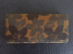Jack Spade Camo Floral Canvas And Leather Bi Fold Mens Continental Jacket Wallet