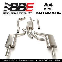 Billy Boat Exhaust Fpim-0502 2005-2008 Audi A4 2.0l Tiptronic Cat Back Exhaust