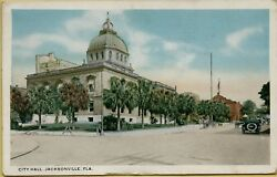 Exterior Street View City Hall Jacksonville Florida FL Postcard C17