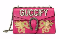 Gucci Guccify Dionysus Pearl Small Pink Rose GG Logo Leather Chain Shoulder Bag