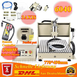 3 Axis 6040 Router Engraver Engraving Drilling Machine 1.5KW VFD Remote Control