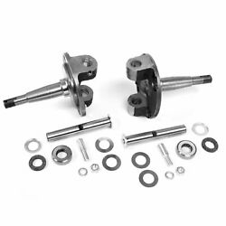 1928-1948 Ford Straight Axle Round Spindles With King Pins And Bushings Set