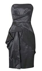 £180 Designer KAREN MILLEN Pewter evening dress size 10 NEW WITH TAGS grey GBP 47.00