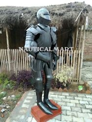 Full Suit Of Armour Halloween Costume Collectible Medieval Sca Plate Armor Larp