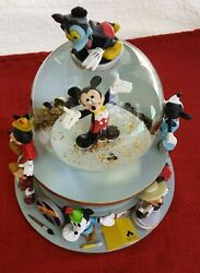 Disney Snowglobe Mickey Mouse Film Star Clubhouse March Song. Very Good